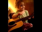 Aaliyah loves the guitar