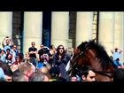 (Shocking) Sheffield - UAF & Islamists - Throwing Lee Ribys Memorial Flowers At The EDL