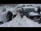 Winter car crash HD