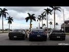 2 Skyline's One GTR -Revving, FLAMES, launching, Flybys