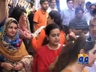 Hadiqa Kiani Fabric Worldin Multan-20 Jul 2013