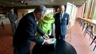 Britain's queen shakes hand of ex-IRA chief